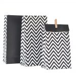 36 chevron black treat bag