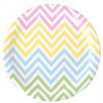 ILU-028 chevron pastels lrg plate