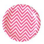 ILU-066 chevron hot pink dessert plate