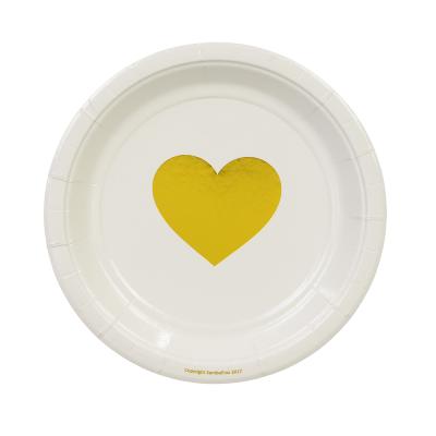 Metallic Gold Heart Cake Plates