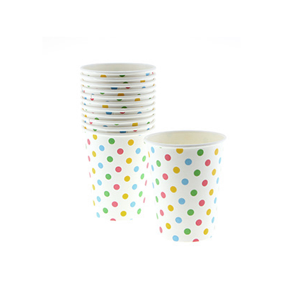 Polkadot Multi-Coloured Party Cups