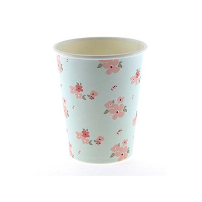 Blue Floral Cups
